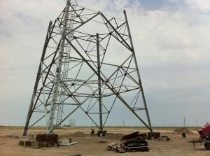 Stahlgitterturm für eine Windkraftanlage in Aserbaidschan