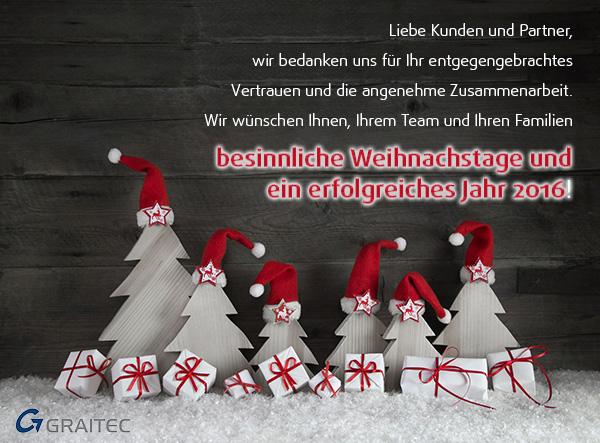 Frohe Feiertage von GRAITEC-Team!